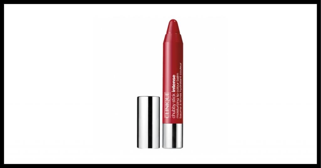 barra de labios color cereza con tapon plateado
