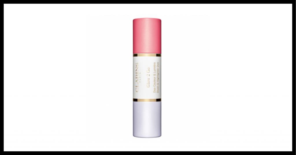 barra de maquillaje por un lado iluminador y por el otro colorete rosa