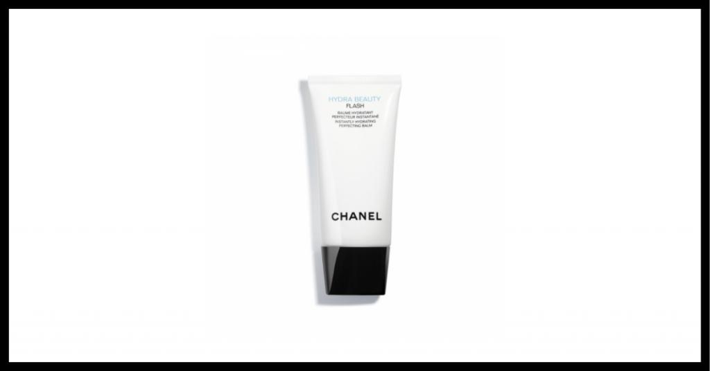 crema cosmetica efecto flash en bote blanco y tapon negro de la marca chanel