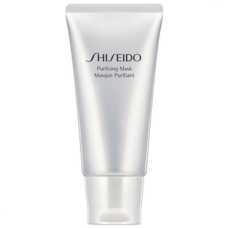 bote con mascarilla para la cara color plateado y letras negras de la marca shiseido
