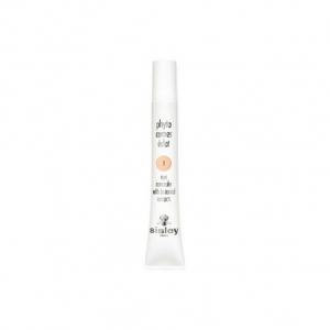 Bote pequeño y delgado en color blanco y con las letras qnegras que contiene corrector para las ojeras de la marca sisley