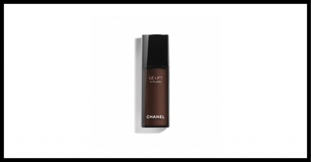 bote con cosmético cara cansada efecto flash color granate con tapon negro de la marca chanel